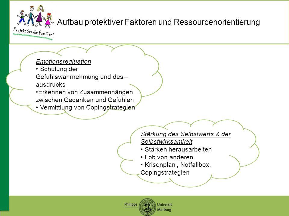 Aufbau protektiver Faktoren und Ressourcenorientierung