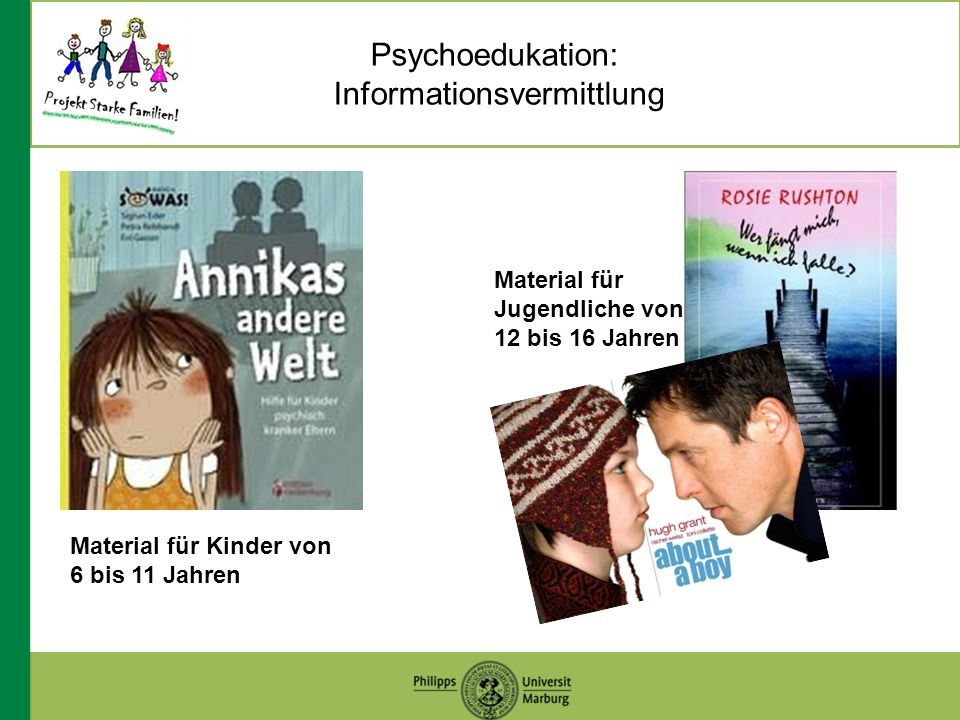 Psychoedukation: Informationsvermittlung