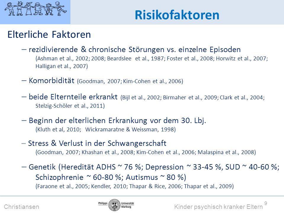 Risikofaktoren Elterliche Faktoren