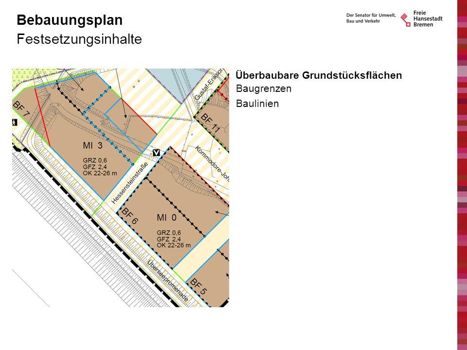 Bebauungsplan Festsetzungsinhalte Überbaubare Grundstücksflächen