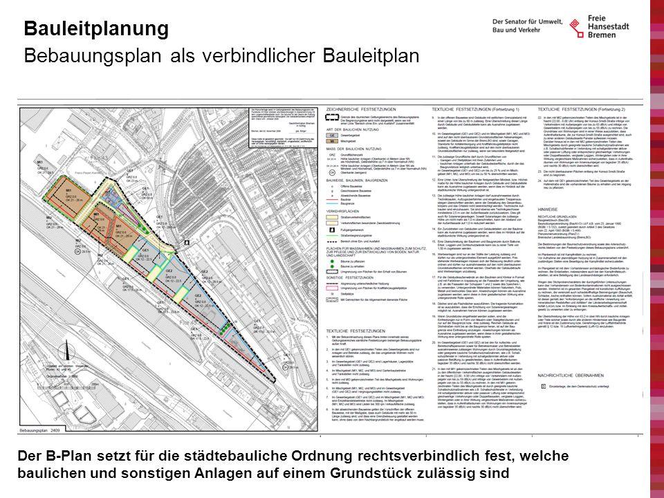 Bebauungsplan als verbindlicher Bauleitplan