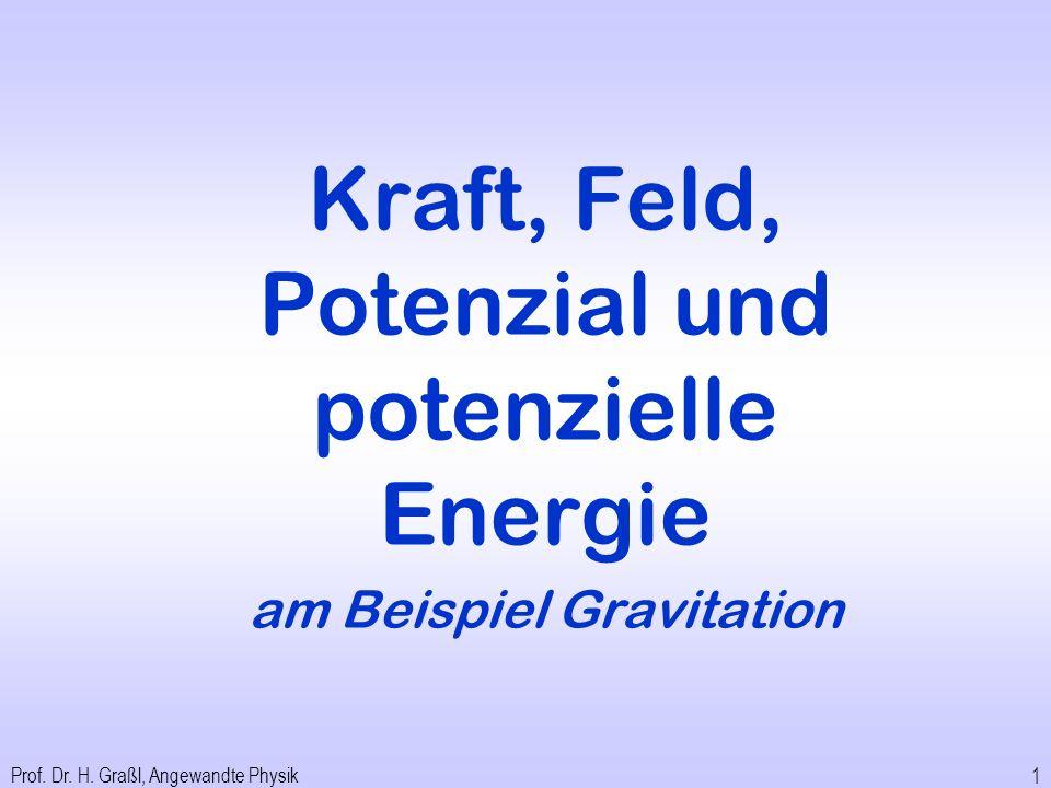 Kraft, Feld, Potenzial und potenzielle Energie am Beispiel Gravitation