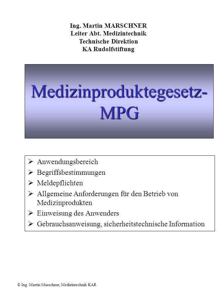 Medizinproduktegesetz-MPG