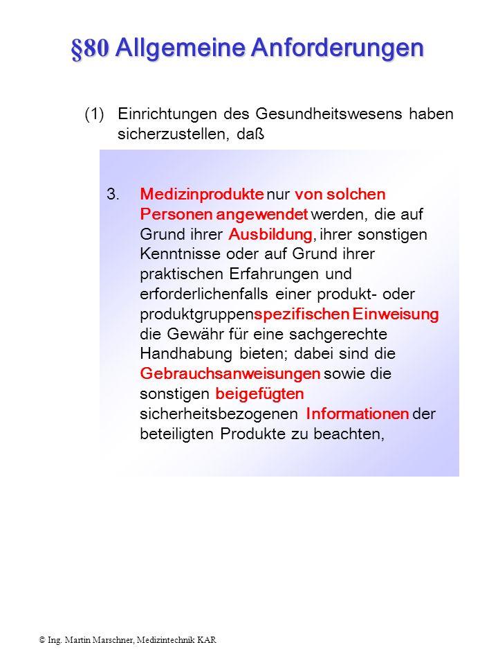 §80 Allgemeine Anforderungen