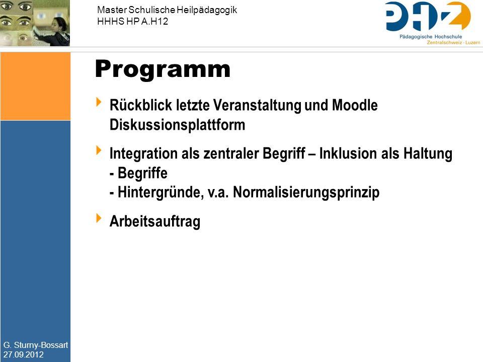 Programm Rückblick letzte Veranstaltung und Moodle Diskussionsplattform.