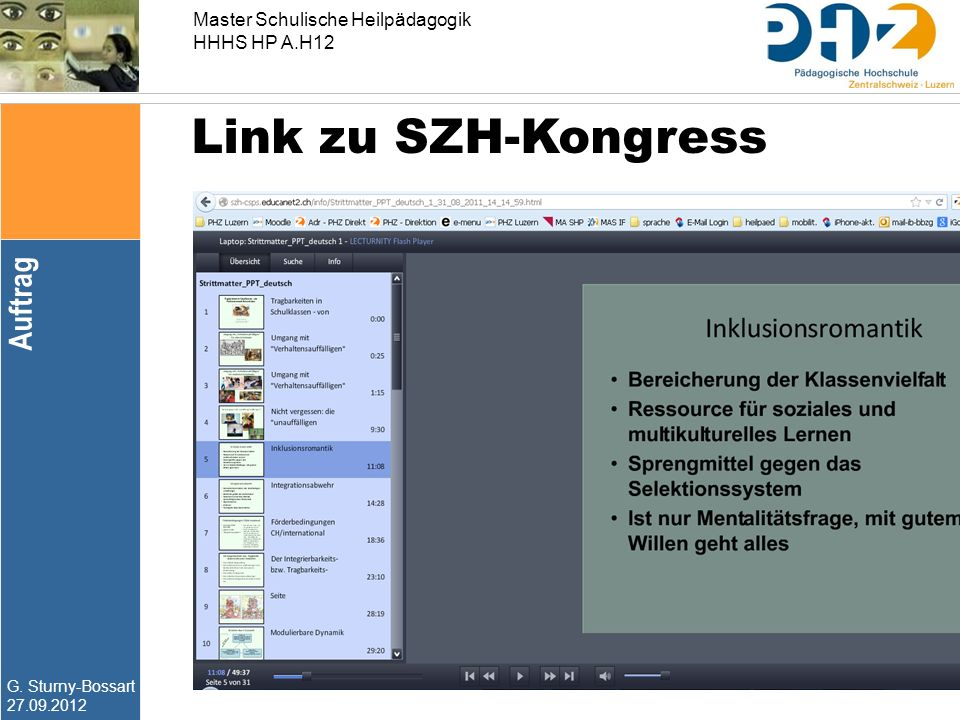 Link zu SZH-Kongress Auftrag