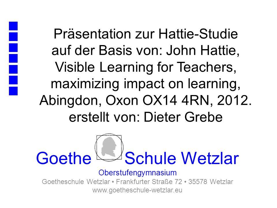 Goetheschule Wetzlar • Frankfurter Straße 72 • 35578 Wetzlar