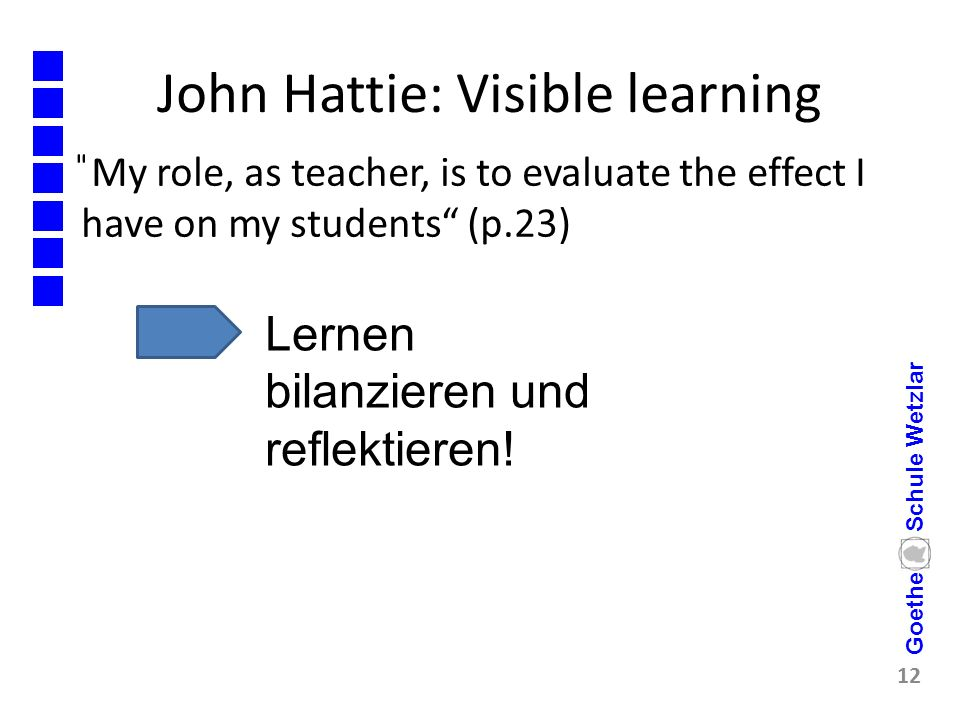 John Hattie: Visible learning