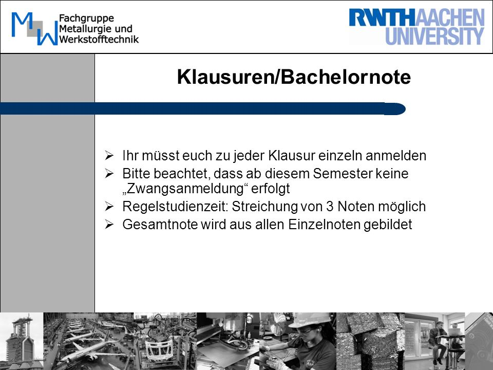 Klausuren/Bachelornote