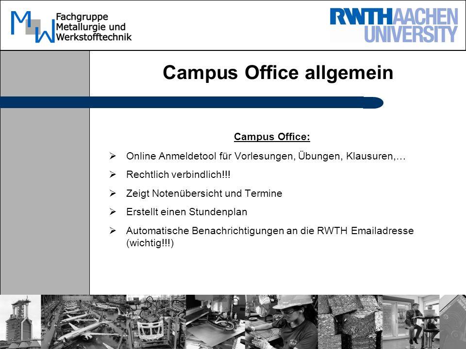 Campus Office allgemein