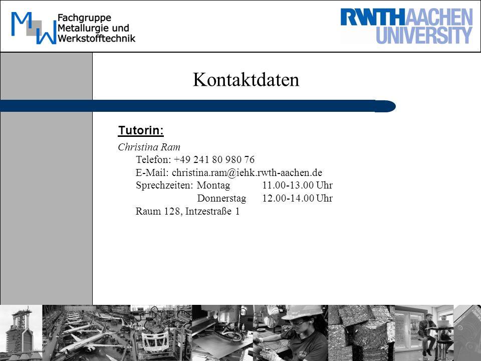 Kontaktdaten Tutorin:
