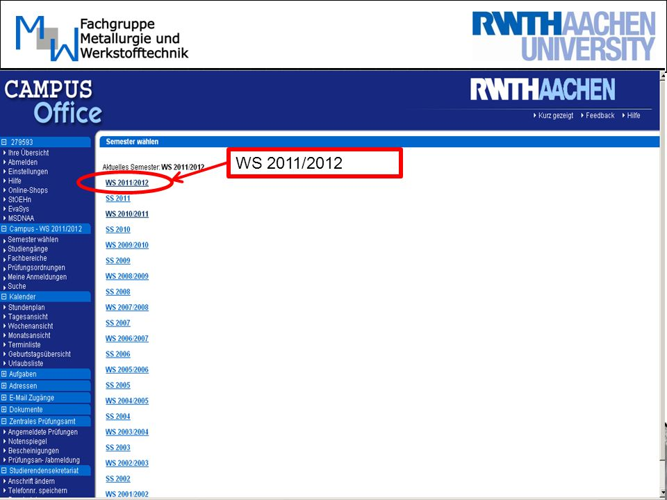 WS 2011/2012