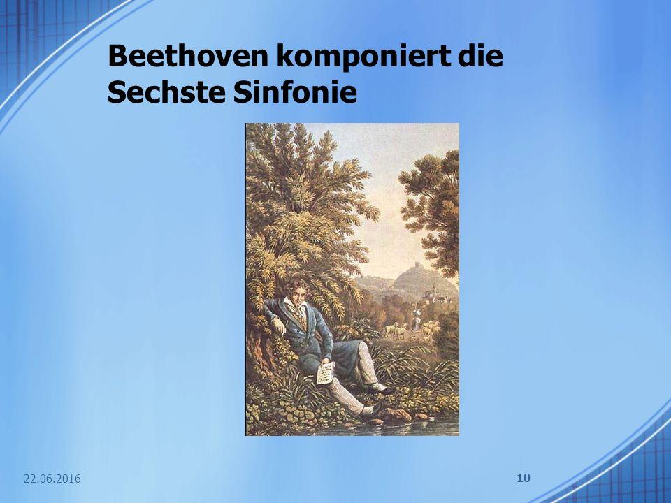 Beethoven komponiert die Sechste Sinfonie