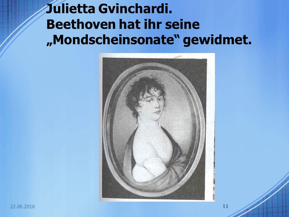 """Julietta Gvinchardi. Beethoven hat ihr seine """"Mondscheinsonate gewidmet."""