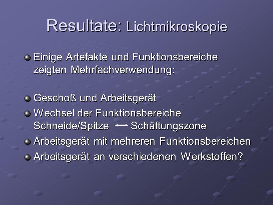Resultate: Lichtmikroskopie