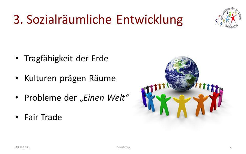 3. Sozialräumliche Entwicklung