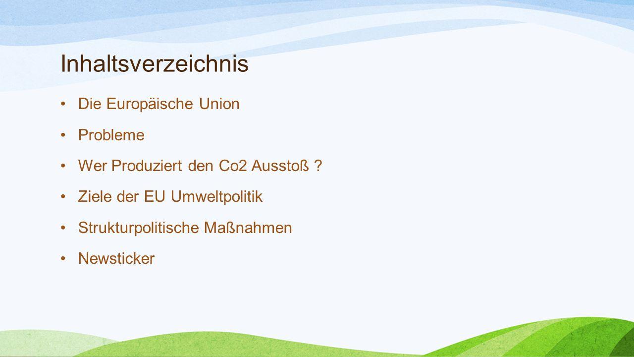 Inhaltsverzeichnis Die Europäische Union Probleme