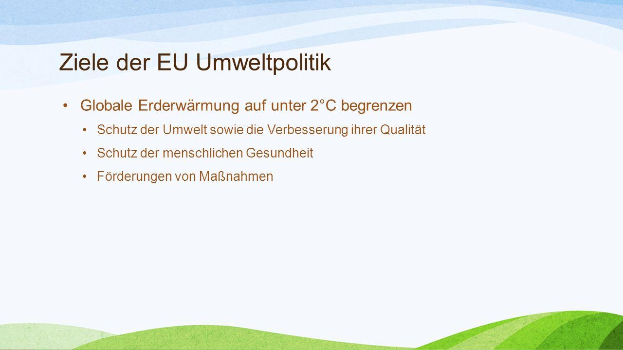 Ziele der EU Umweltpolitik