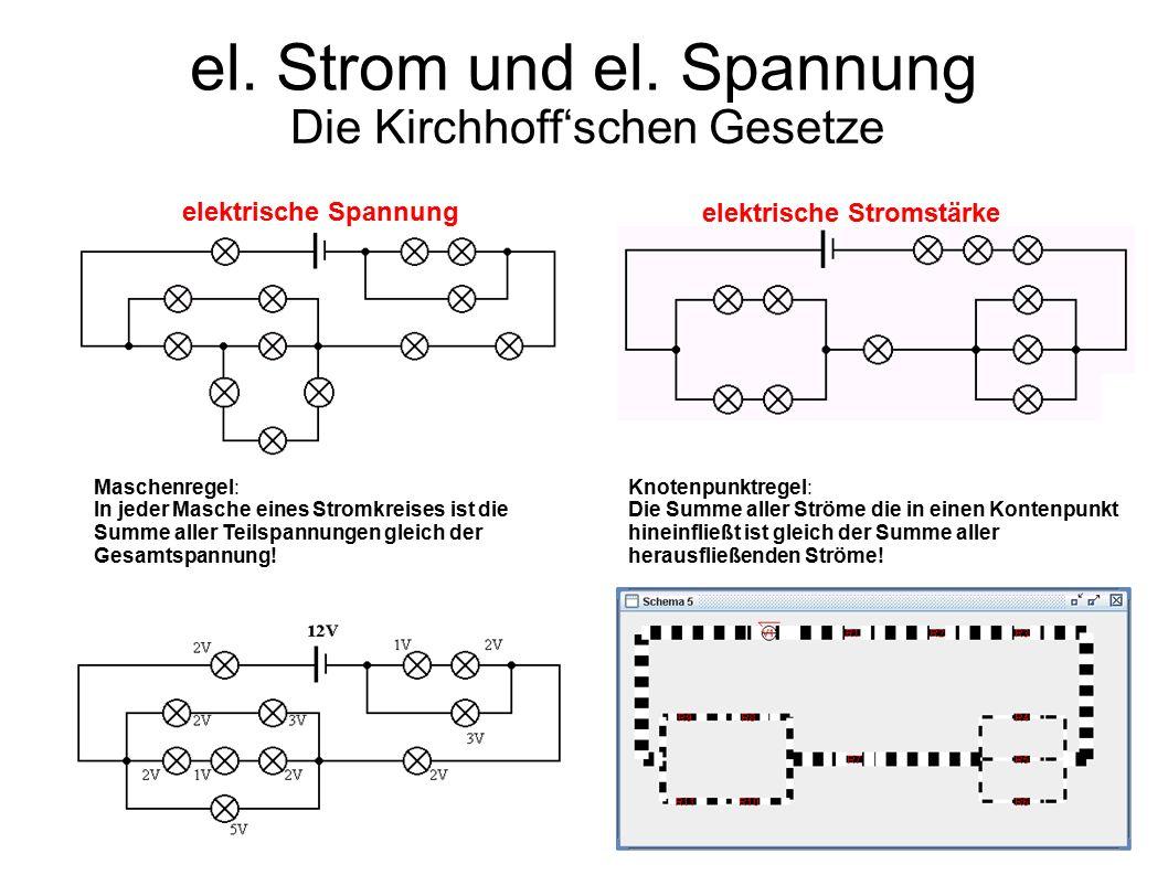 el. Strom und el. Spannung