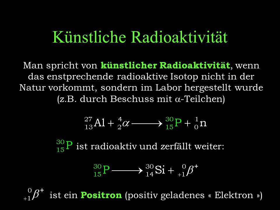 Künstliche Radioaktivität