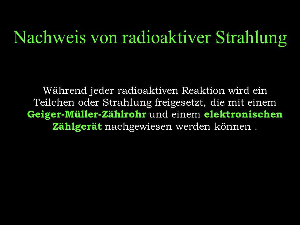 Nachweis von radioaktiver Strahlung