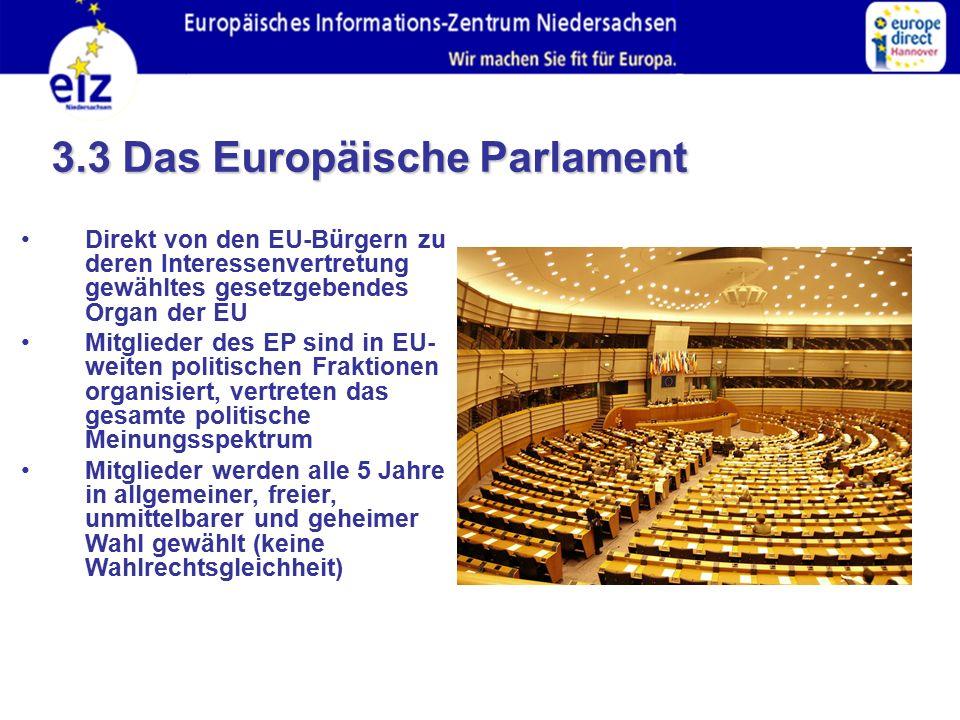 3.3 Das Europäische Parlament