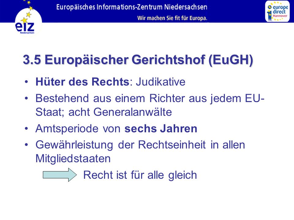 3.5 Europäischer Gerichtshof (EuGH)