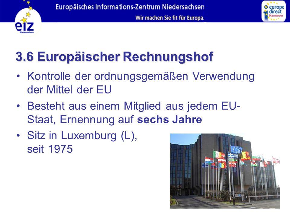 3.6 Europäischer Rechnungshof