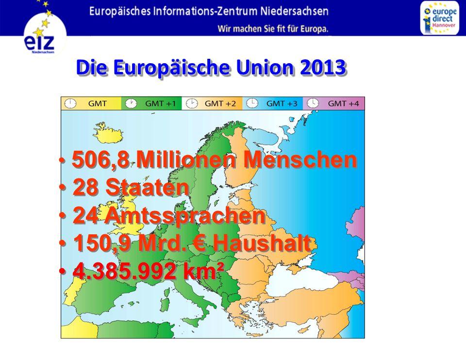 Die Europäische Union 2013 28 Staaten 24 Amtssprachen