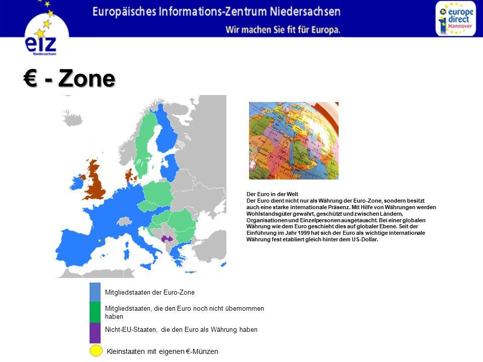 € - Zone 36 Mitgliedstaaten der Euro-Zone