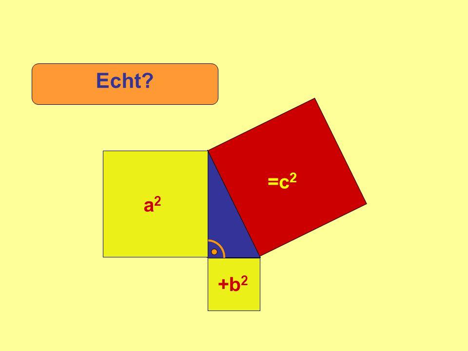 Echt =c2 +b2 a2 c a b