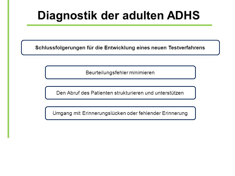 Diagnostik der adulten ADHS