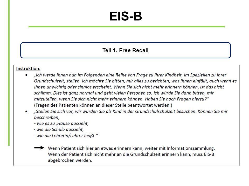 EIS-B Teil 1. Free Recall