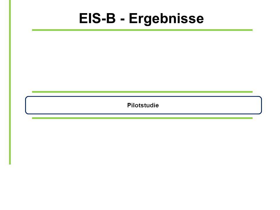EIS-B - Ergebnisse Pilotstudie