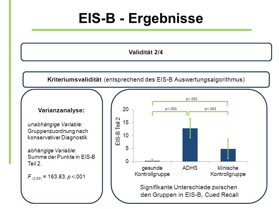 EIS-B - Ergebnisse Validität 2/4