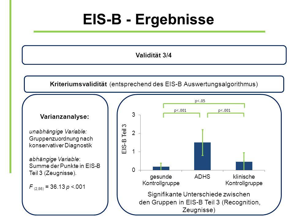EIS-B - Ergebnisse Validität 3/4