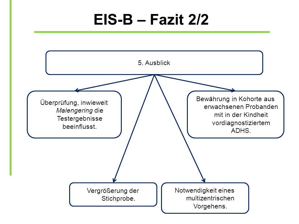 EIS-B – Fazit 2/2 5. Ausblick