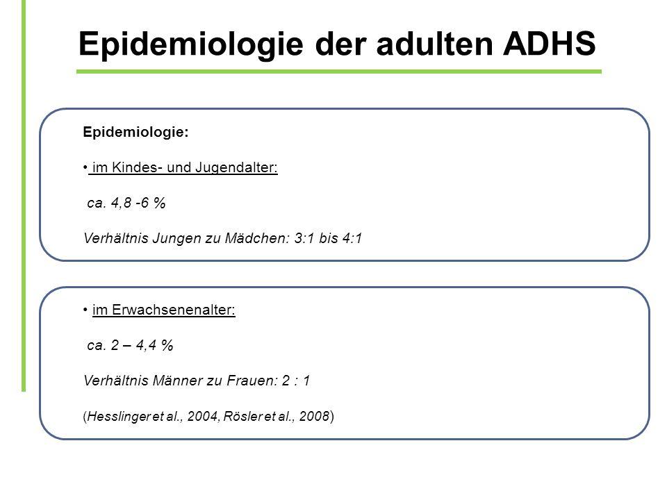 Epidemiologie der adulten ADHS