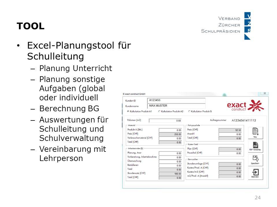 Excel-Planungstool für Schulleitung