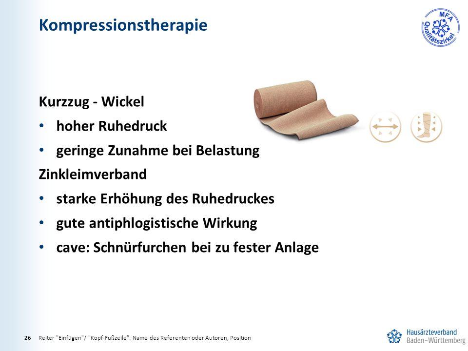 Kompressionstherapie