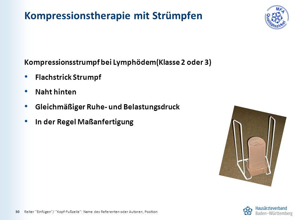 Kompressionstherapie mit Strümpfen