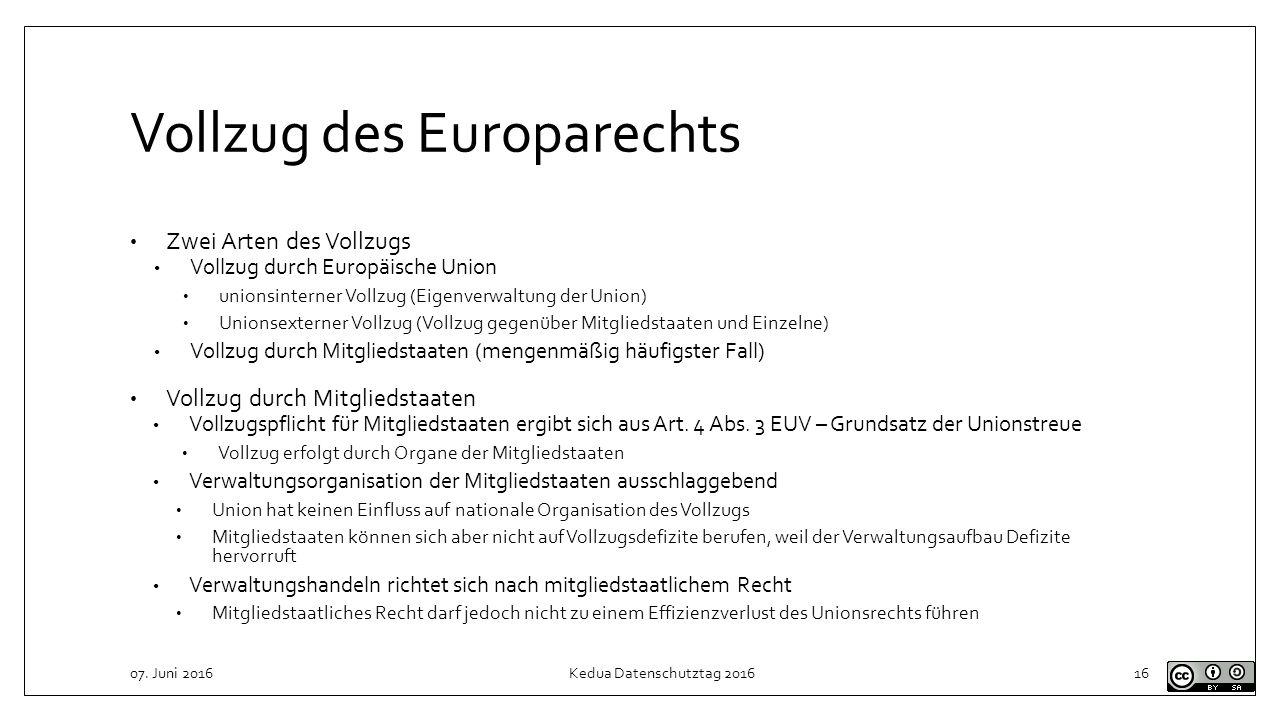 Vollzug des Europarechts
