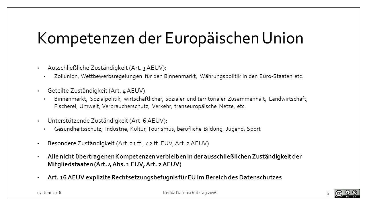 Kompetenzen der Europäischen Union