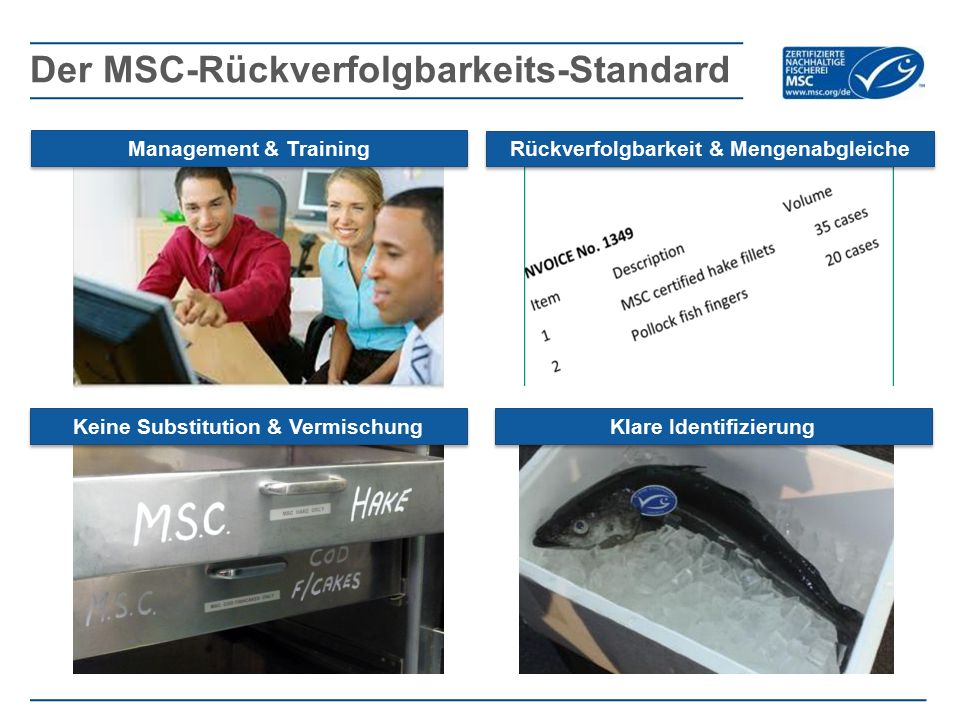 Der MSC-Rückverfolgbarkeits-Standard