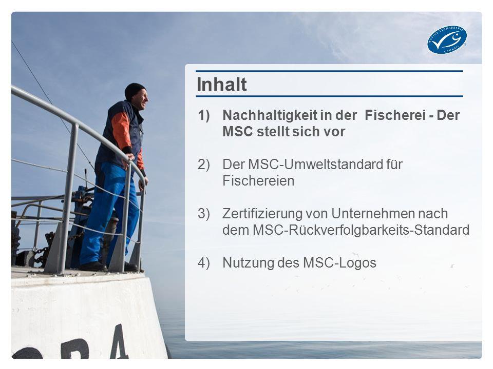 Inhalt Nachhaltigkeit in der Fischerei - Der MSC stellt sich vor
