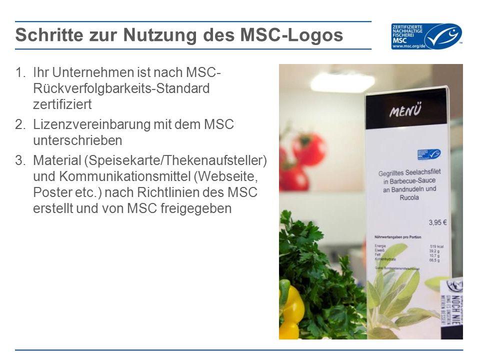 Schritte zur Nutzung des MSC-Logos