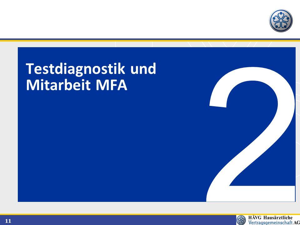 Testdiagnostik und Mitarbeit MFA 2
