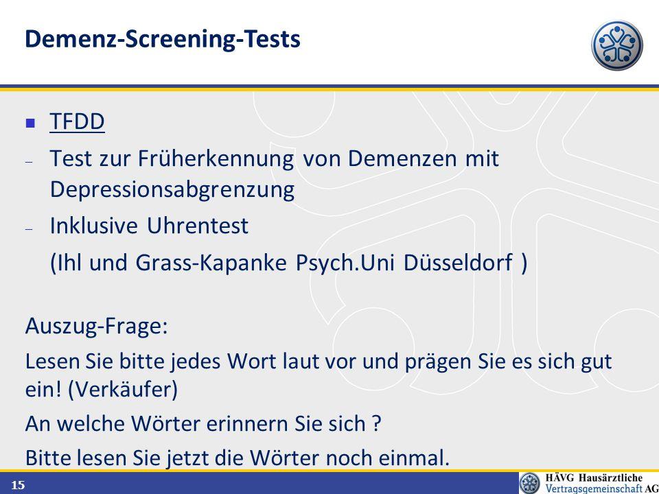 Demenz-Screening-Tests