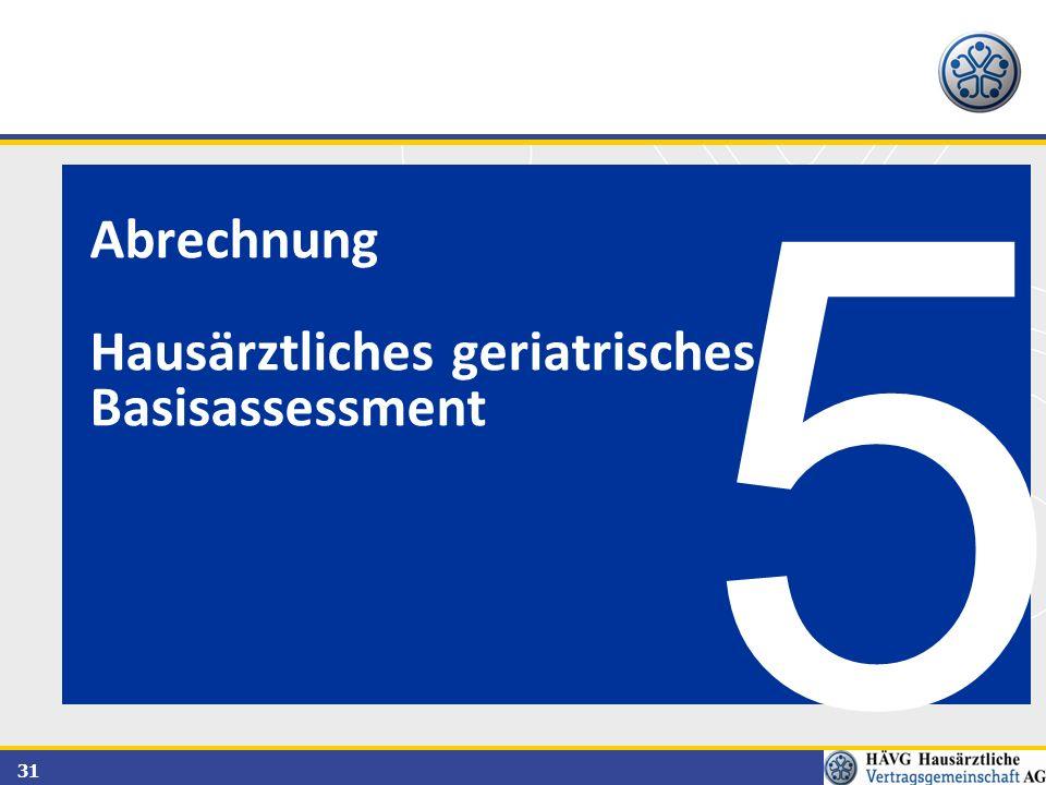 Abrechnung Hausärztliches geriatrisches Basisassessment 5