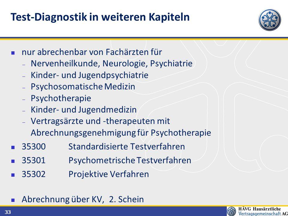 Test-Diagnostik in weiteren Kapiteln